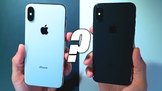 iPhone X: Space Gray vs. Silver