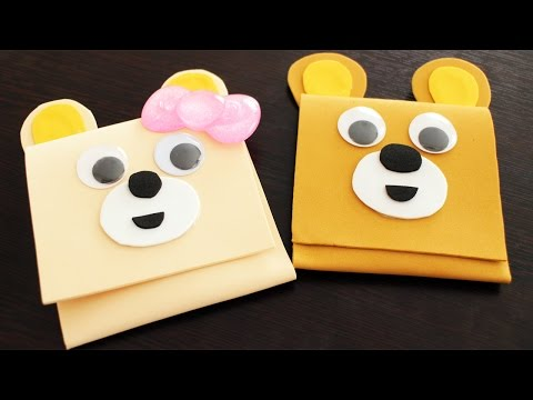 DIY Kawaii Bear Money Pouch