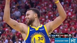 Warriors vs Rockets - Game 4 - Last Few Minutes Drama (full)
