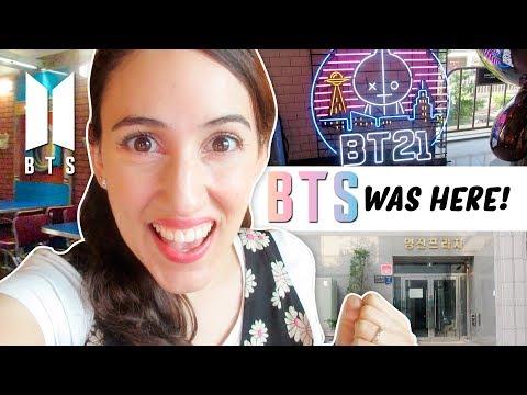 ¡UN DÍA VISITANDO SITIOS DE BTS! Big Hit, BT21 Store y más!!! | HelloTaniaChan