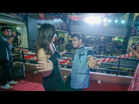 FAN DANCES FUNNY WITH ANNA SHARMA AT B-8EIGHT ALBUM LAUNCH