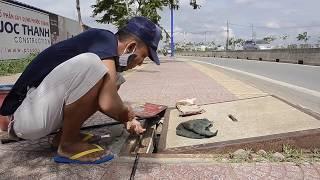 Lạ lẫm câu cá trên vỉa hè ở Sài Gòn