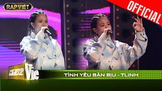 Bắn rap quá chất nữ rapper Tlinh khiến fan mê mẩn vì hit Chiếc khăn gió ấm | RAP VIỆT [Live Stage]