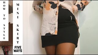 5 Ways to Style Mini Skirt for the Winter | How to Style | Simply Jseivad