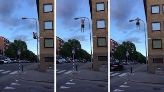Snimao je golog bildera kako trči ulicom, a onda je tip prišao banderi i uradio NAJLUĐU STVAR! (VIDEO)