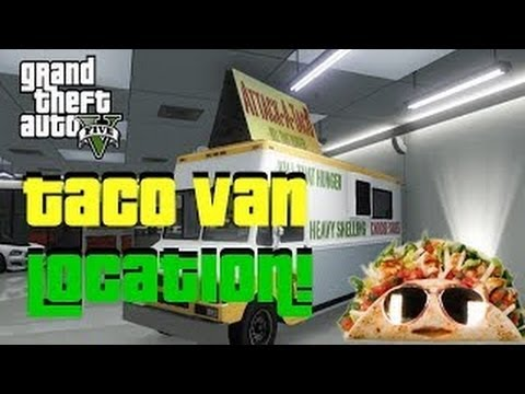 GTA 5 Online How To Get The TACO VAN - Taco Truck Location - GTA V Rare Cars Online TUTORIAL - Smashpipe Games Video