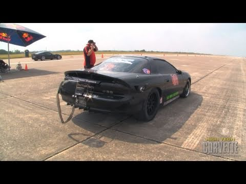 244mph Camaro sliding sideways - The Texas Mile - May 2011