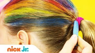 How to Create a Rainbow Helmet 🌈 Style Files Hair Tutorial | Sunny Day's Style Files | Nick Jr.