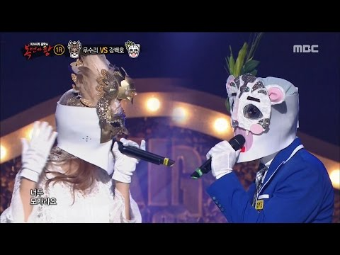 [King of masked singer] 복면가왕 - adjutant bird VS Kang Baekho 1round -  Miracle  20170514