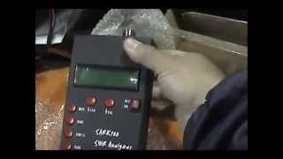 SARK -100 Antenna Analyzer in action - M0LYF