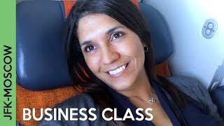 AEROFLOT flight to Moscow   JFK-SVO BUSINESS CLASS - Wow!!!