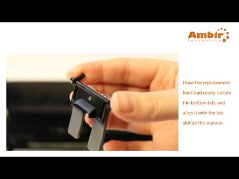 ImageScan Pro 800 series - Feed Pad Removal - Ambir Technology