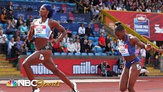 Shaunae Miller-Uibo pulls away from deep field in Diamond League 200m | NBC Sports