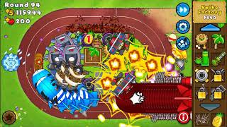 How far I got to in Bloons
