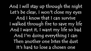 Sia -  Elastic heart (lyrics)