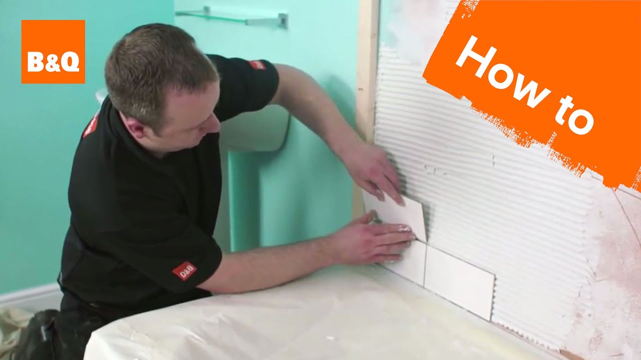 How to Tile a Bath Splashback Part 2: Fixing the Tiles ...