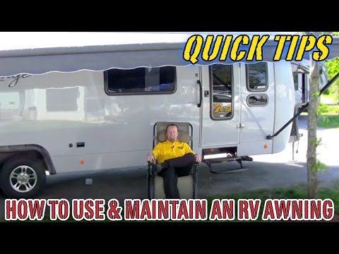 How To Use And Maintain A Camper Awning Pete S Rv