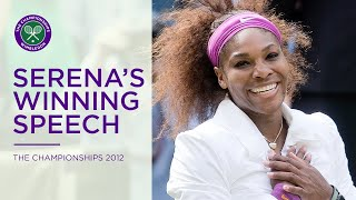 Serena Williams's funny 2012 speech | Wimbledon Retro