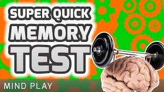 Super Quick Memory Test