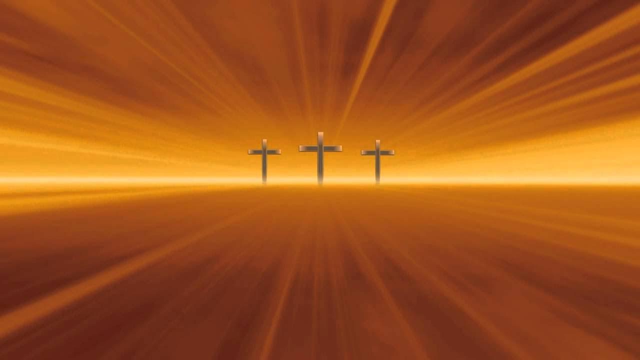 Christian Cross Worship Gold Ray Lights Video