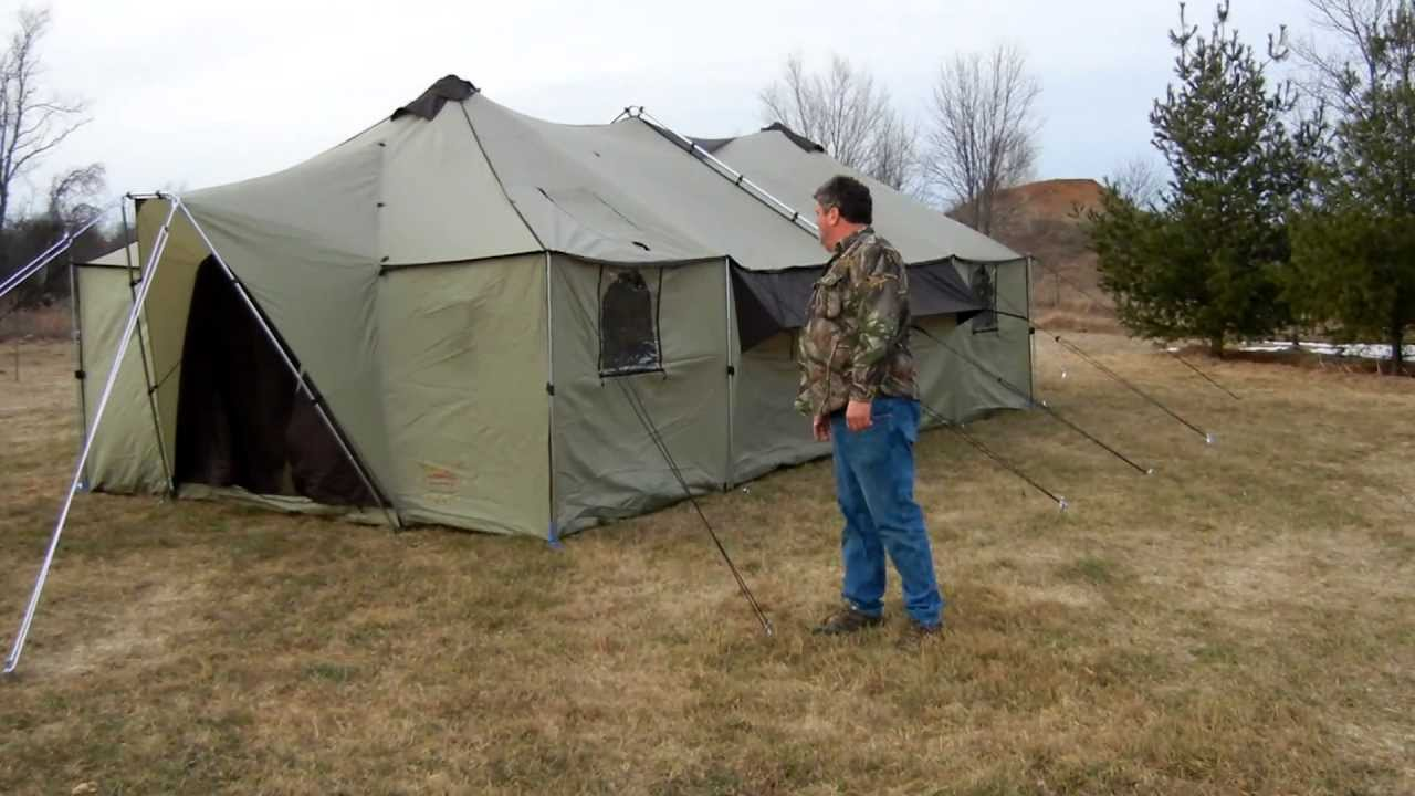 Cabela S Alaknak Tent 13x27 Youtube