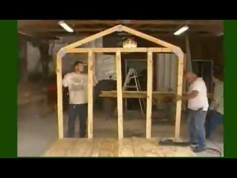 How to build a garden shed youtube, building a storage shed