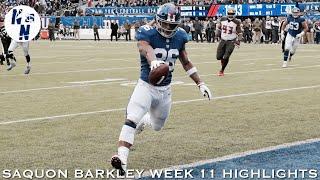 Saquon Barkley Week 11 Highlights   ᴴ ᴰ   ||   Giants vs Buccaneers   ||   11/18/18
