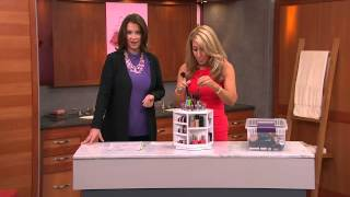 Tabletop Spinning Cosmetic Organizer by Lori Greiner with Jacque Gonzales