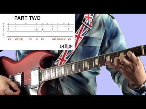 Sparks The Who Live at Leeds Guitar Lesson from Ampslam com