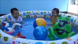 Bể bơi phao Kiddie Pool - Bé tắm bể bơi