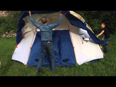 Зимняя-летняя, Экспедиционная, штормовая палатка с печкой