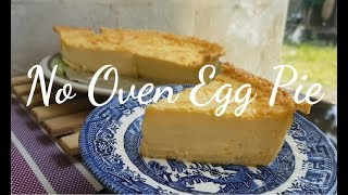 No Oven Egg Pie | How to bake Egg Pie without oven | Egg Pie recipe | improvised Oven