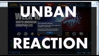 video Live unban reaction