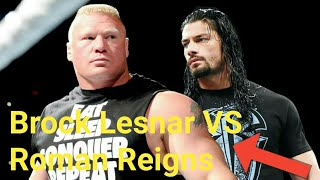 WWE Raw Brock Lesnar VS Roman Reigns  4 March 2018