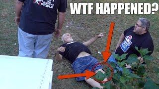 HOW ANGRY GRANDPA HURT HIS KNEE!