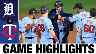 Max Kepler ties it in 8th, wins it in 10th for Twins | Tigers-Twins Game Highlights 9/22/20
