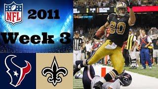 Houston Texans vs. New Orleans Saints | NFL 2011 Week 3 Highlights