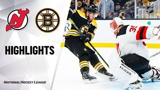 Devils @ Bruins 10/12/19 Highlights