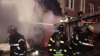 FDNY Battles 3-Alarm Fire, 5 Stores Destroyed.