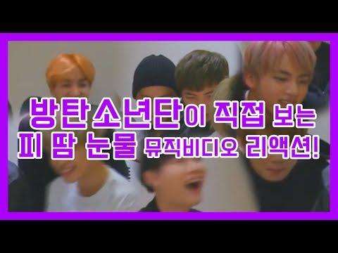 [방탄소년단] 방탄이 직접 보는 피 땀 눈물 뮤직비디오 리액션!