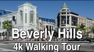 Walking Tour around Beverly Hills (Rodeo Drive) | 4K Ambient Lofi Relaxation Music (1Hr)