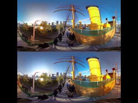 [3D-360 video] Sailing ship 'Meijimaru' in Tokyo Kaiyo Univ.