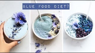 Eating Only BLUE Food For 24 Hours 💙🍴