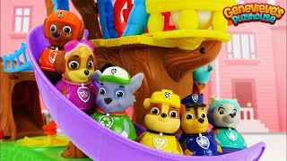 Best Learning Video For Toddlers Paw Patrol Train and Weeble Treehouse Playset!