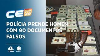 Polícia prende homem com 90 documentos falsos