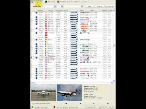 AirNav RadarBox Local Flights v Network Flights