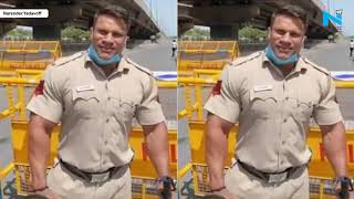 This beefed up Cop has the most hilarious demand from Modi..