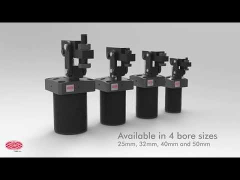 DE-STA-CO 8700 Series Pneumatic Lever Clamp