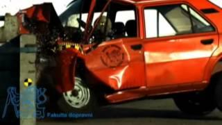 CrashTest Škoda 120 50 km/h