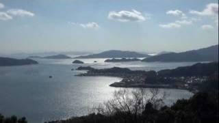 音戸の瀬戸公園からの美しい瀬戸内海の風景  by 食べタインジャーTV